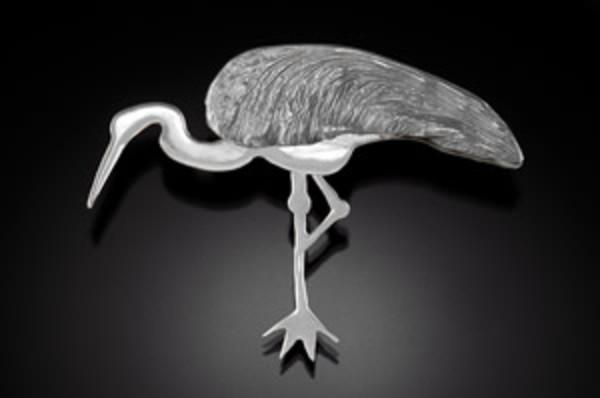 Crane Brooch