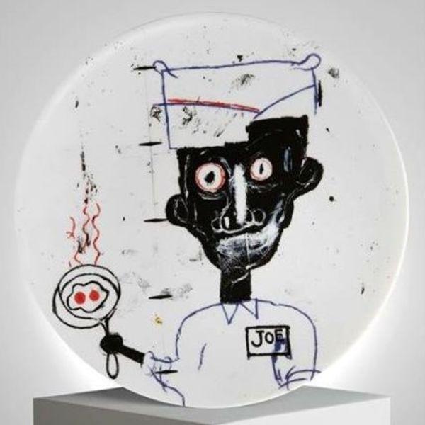 Basquiat 骨瓷盤 Joe (1983)