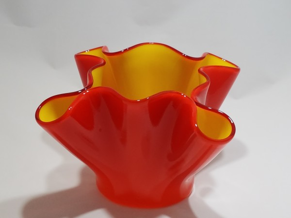JB-28 - Orange/Yellow Drape Vessel