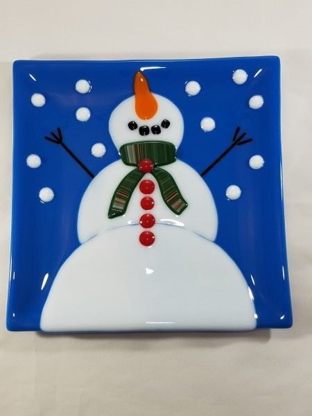 JB-31 - Blue Snow Man Plate