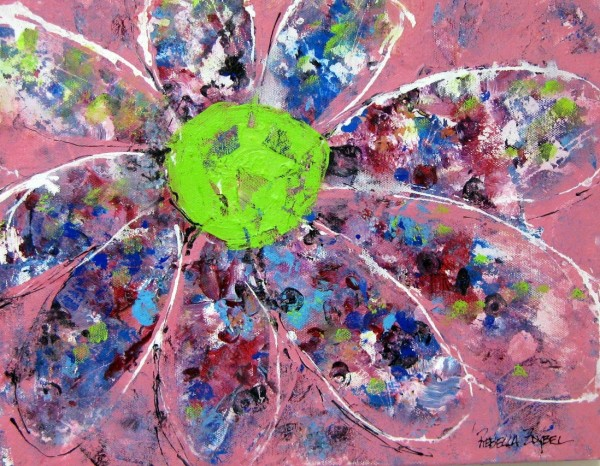 Flower Power with Pink and Green