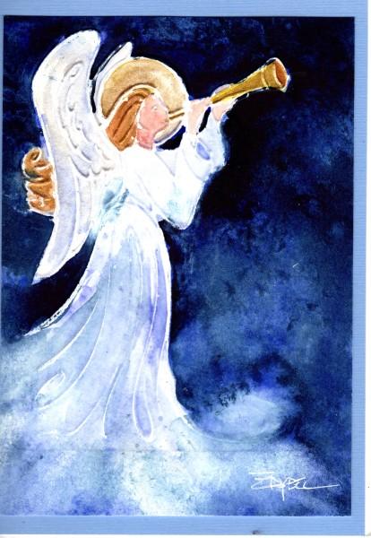 Herald Angel Christmas Card