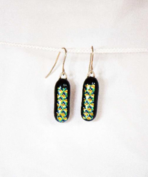Harlequin Drop Earrings  ( medium )
