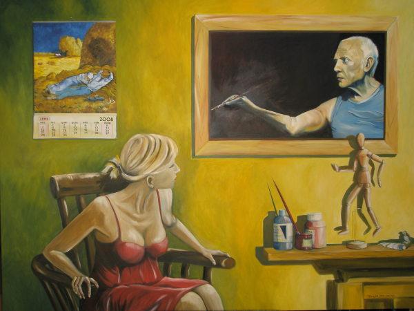 Picasso Alerta no Atelier do Pintor