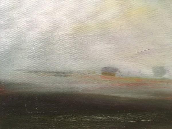 homestead in fog