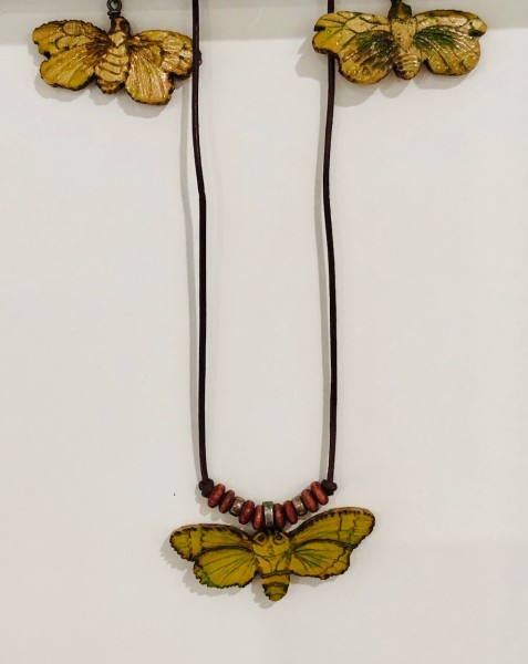 Artists made earrings and necklace (necklace $55 , earrings $65)