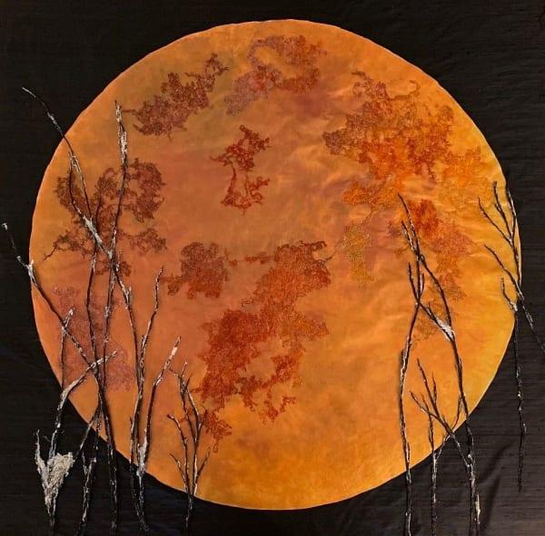 Blood Moon Thru Trees