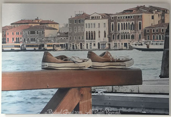 Old Shoes, Venice, Italy, Limited Edition Art Print on Metal
