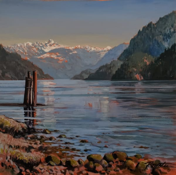 """Gambier receding "" West Howe Sound"