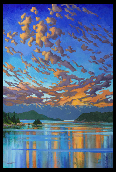 "GICLEE  ""Fire & Water - Howe Sound sunset"""