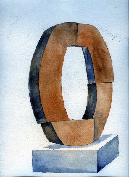 Locking Piece I (Etruria) Watercolor
