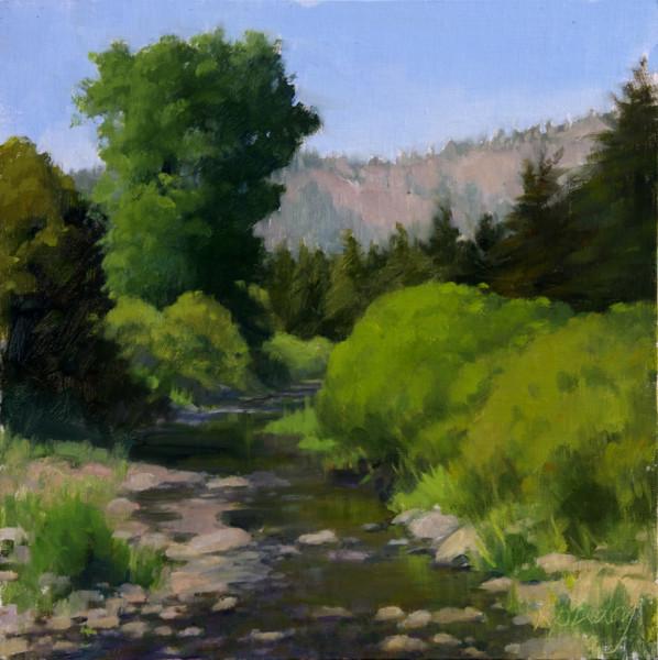 Blackwood Canyon Creek-Tahoe    (12 x 12, plein air)
