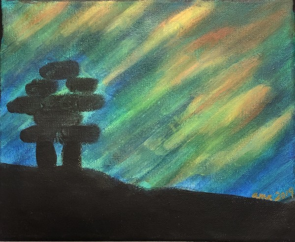 Inuksuk + Northern Lights