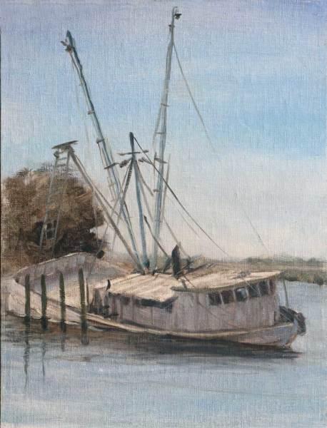 Sunken Boat in Apalachicola  **Sold**