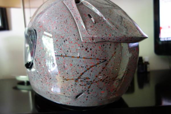 Futura painted/signed helmet