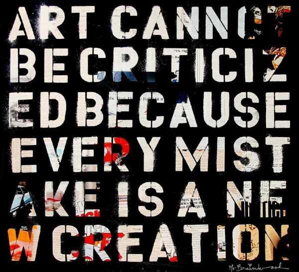 Art Cannot Be Criticized