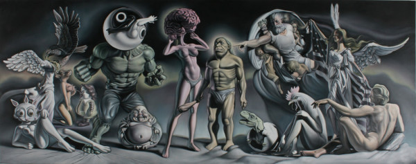 """""""Adam and Eve in the Garden of Guernica"""" #1"""