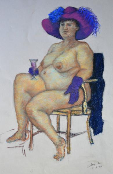 Ludmilla in Purple Hat 08