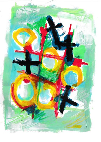 noughts n crosses green
