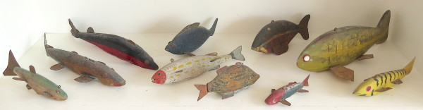 Ten Fish Decoys