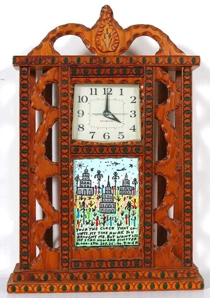 Your the Clock that Counts My Time Away #16,294 (clock carved 1968)