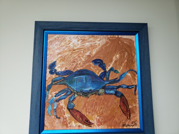 Blue crab #1 with blue frame