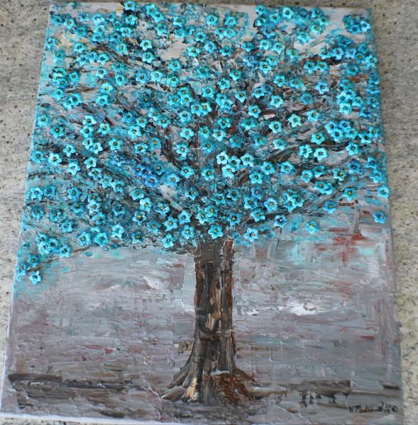 Cobalt Teal Tree