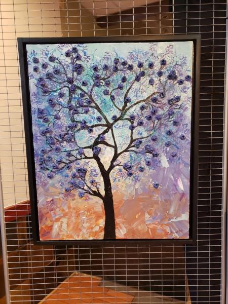 Abstract Cerulean Purple Tree