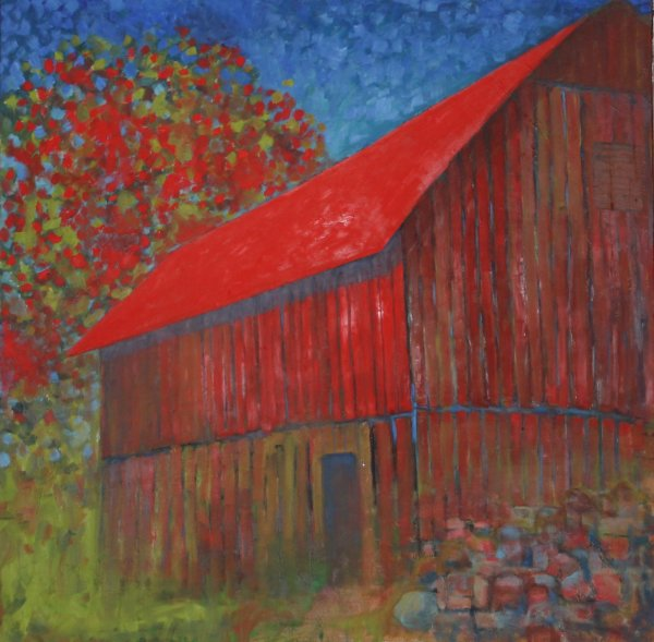 Barn in Red