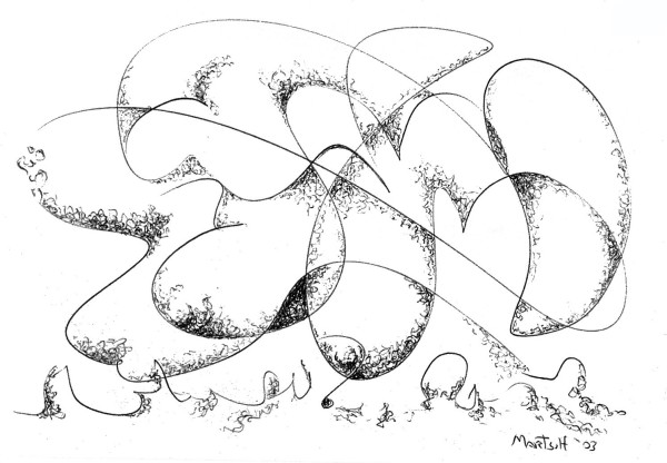 The Caress of Memory, the drawing