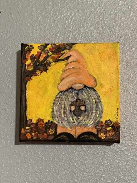 Fall Gnomie with an acorn
