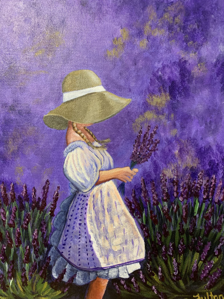 A Girl in a Field of Lavender