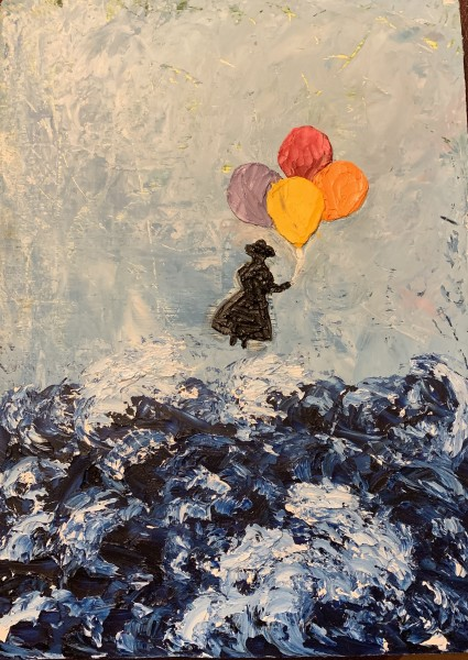 Floating over stormy seas