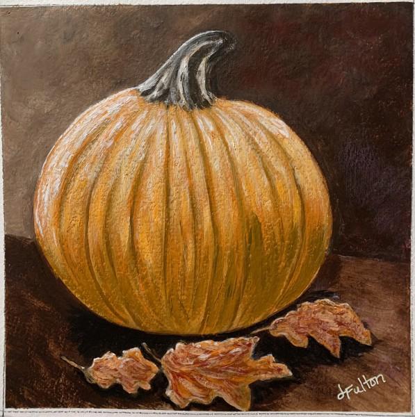 Fall Pumpkin and Leaves