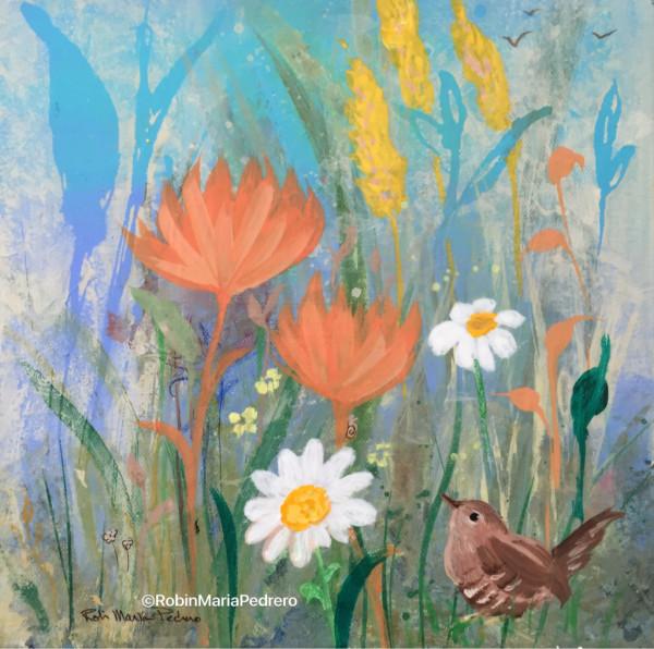 Wren in Wildflowers