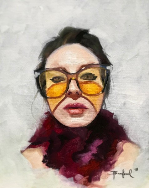 Self Portrait with Yellow Glasses
