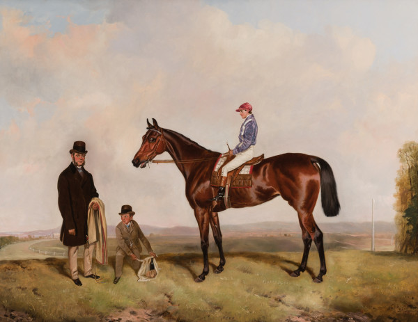 Mr. W.H. Clay's Thetis with W. Clay Up After Winning the Tunbridge Handicap 1872