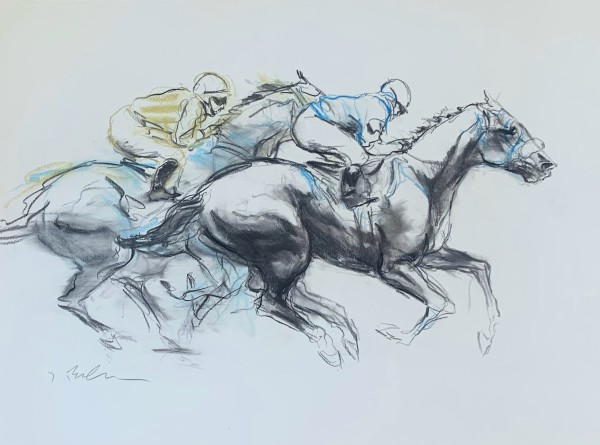 Neck and Neck, Blue and Yellow
