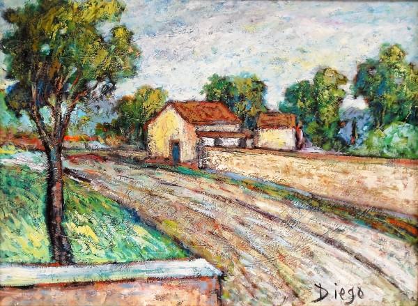 """""""Italian Landscape Paessaggio"""" by Antonio Diego Voci #C20"""