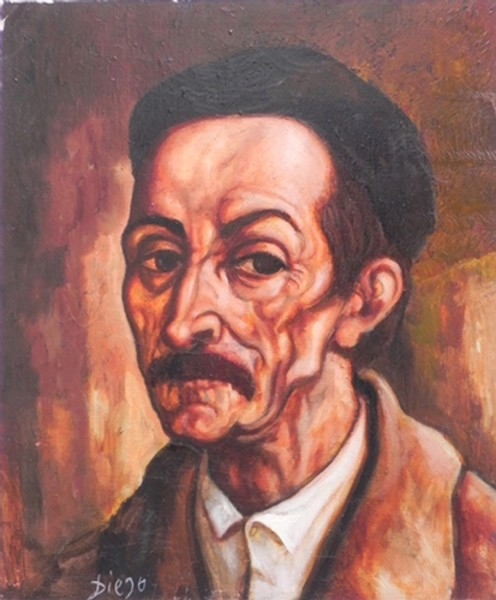 """Le Professeur"" by Antonio Diego Voci #C23"
