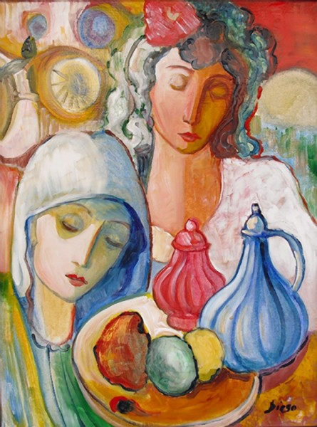"""Still Life with Women"" by Antonio Diego Voci #C28"