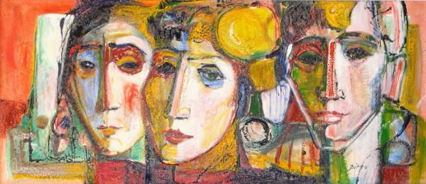 """""""Les Trois Visages"""" by Antonio Diego Voci #C30"""