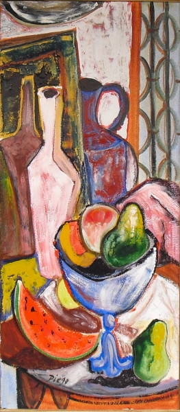 """Still Life with Pottery"" by Antonio Diego Voci #C32"
