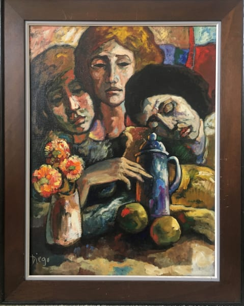 """Composition with 3 Women"" by Antonio Diego Voci #C40"