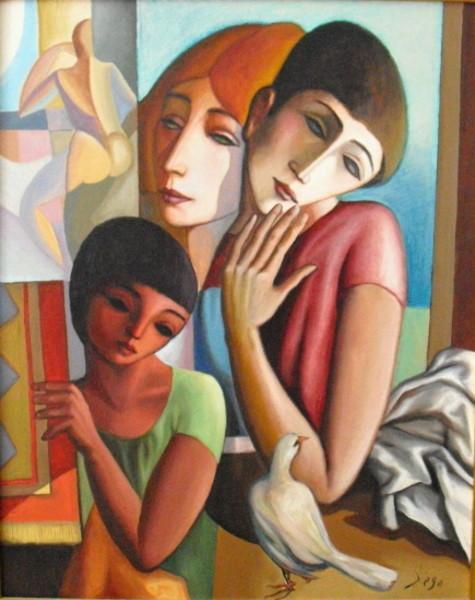 """""""A La Fenetre"""" by Antonio Diego Voci #C42"""