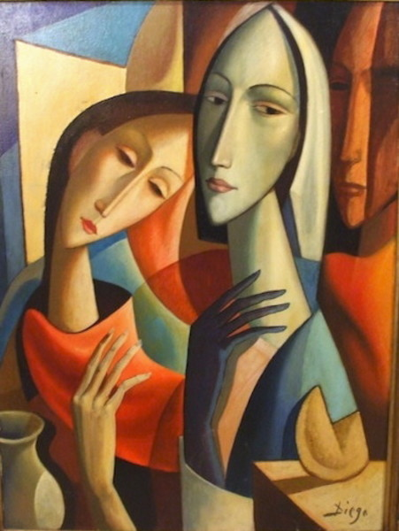 """Donna con Natura Morta"" (fortune cookie) by Antonio Diego Voci  #C44"