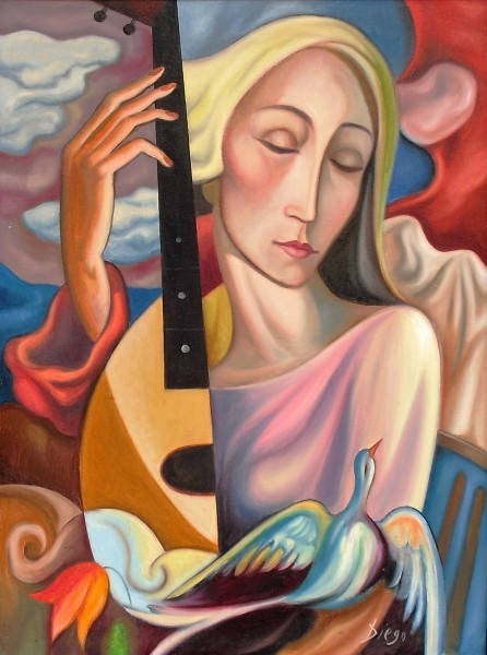 """Dreaming Woman"" by Antonio Diego Voci #C1"
