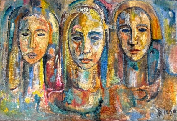 """Three Women"" by Antonio Diego Voci #C64"