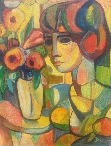 """Composition with Flowers"" by Antonio Diego Voci #C79"