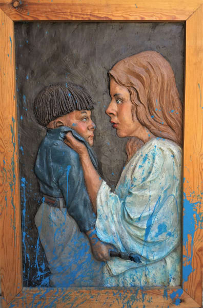 """""""Mother Scolding Son"""" by Graham Ibbeson"""
